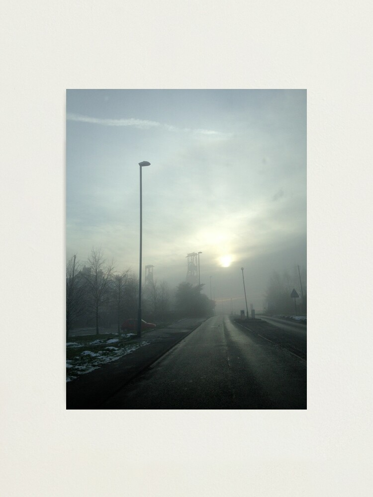 Alternate view of Clipstone Colliery in the fog Photographic Print