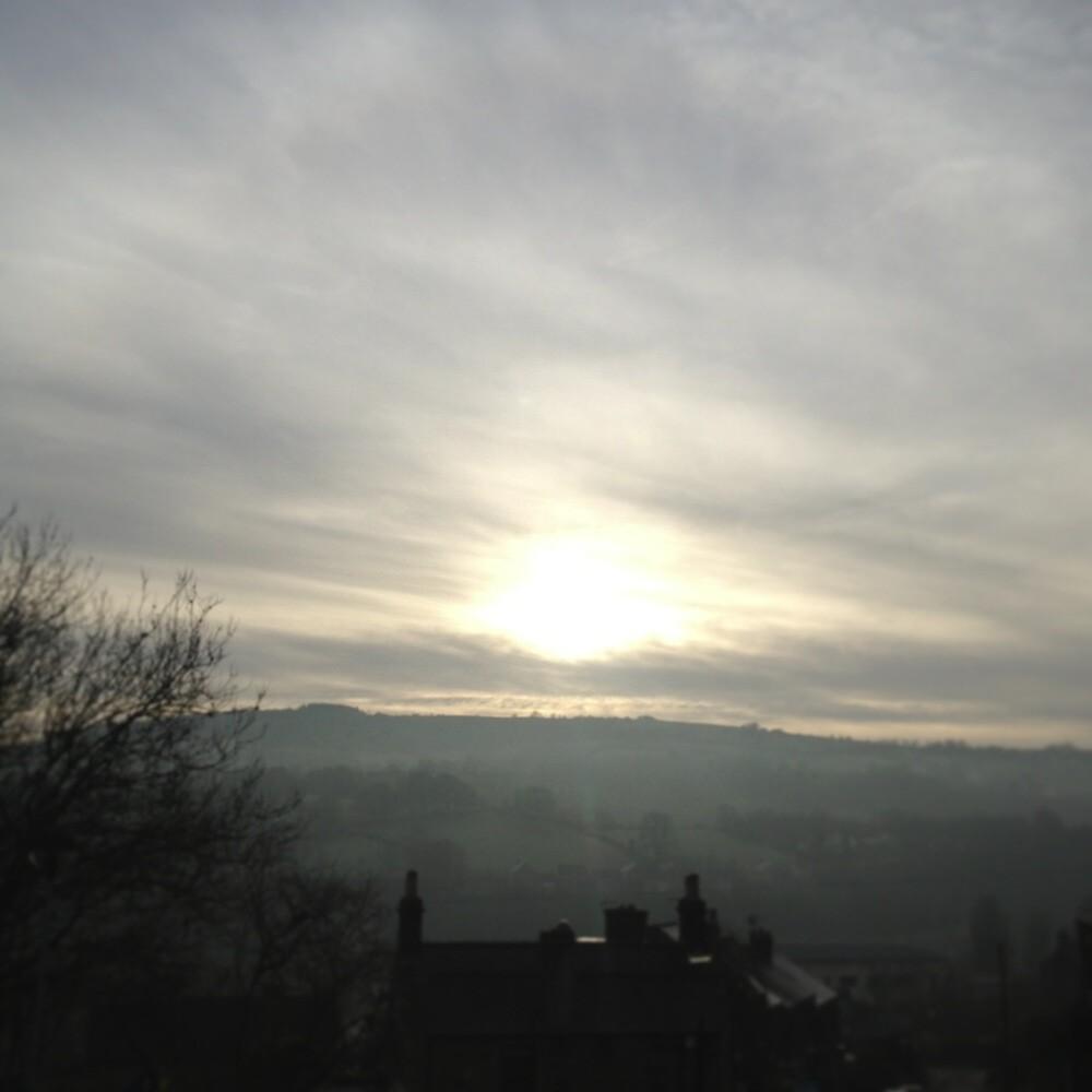 Derbyshire sunset by Robert Steadman