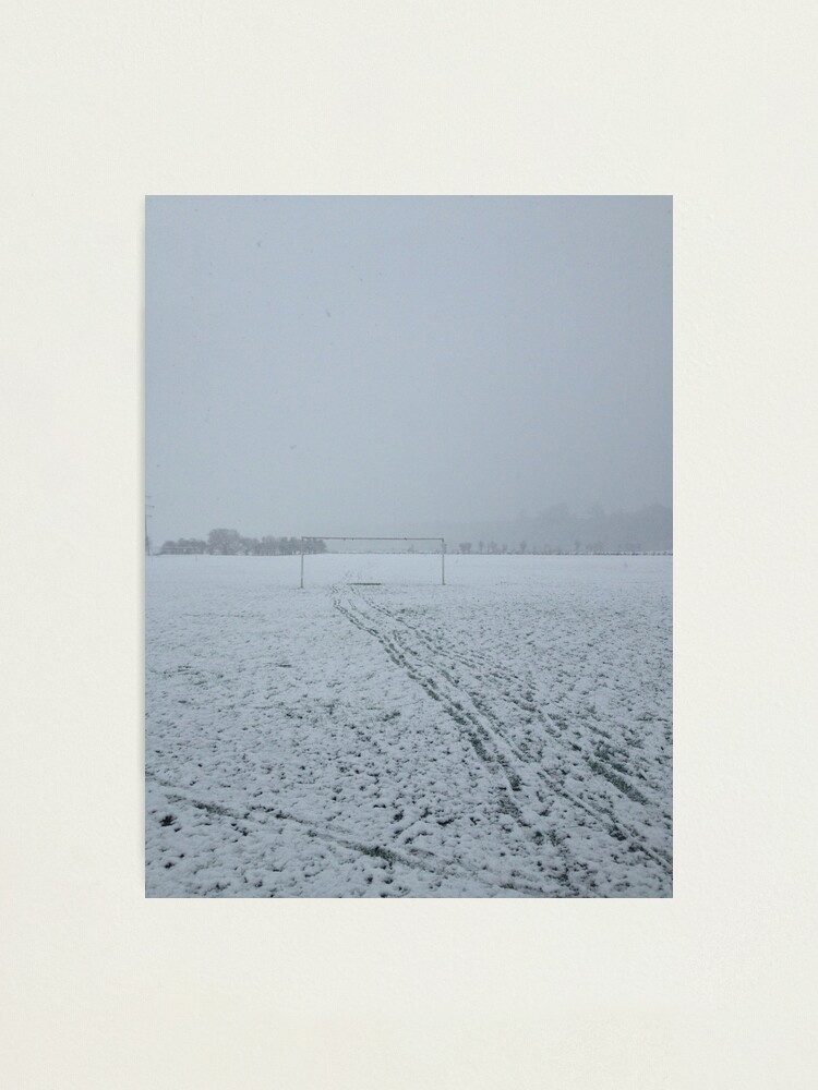 Alternate view of Football pitch. Snow Photographic Print