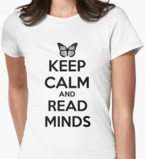 Keep Calm and Read Minds Women's Fitted T-Shirt