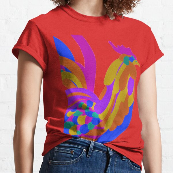 Colorful Abstract Rooster Classic T-Shirt