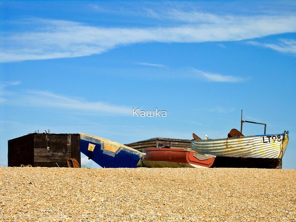 The Beach at Dunwich Suffolk by Kawka