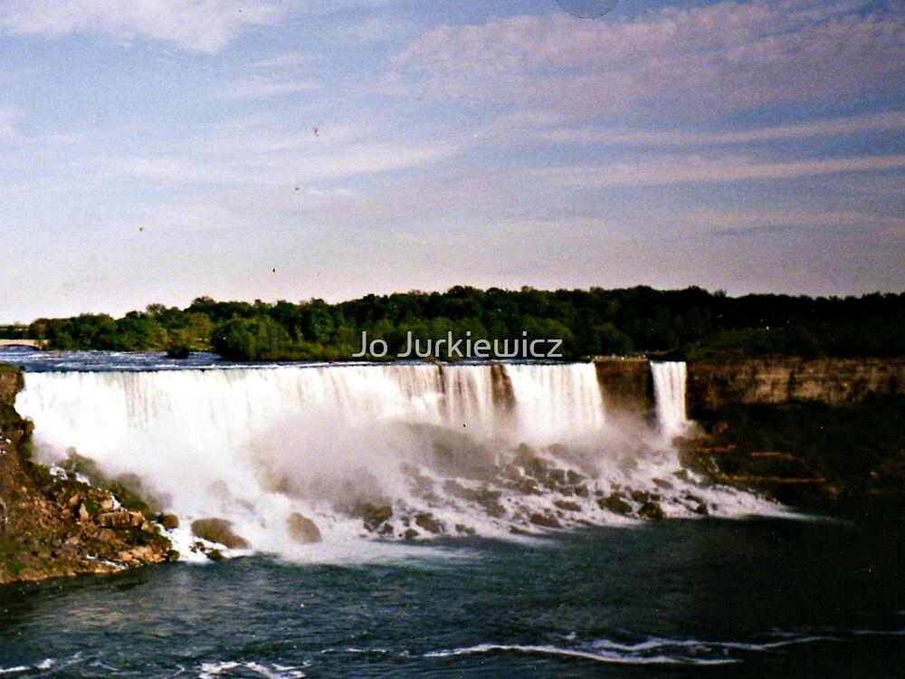 Waterfall on the River by Jo Jurkiewicz