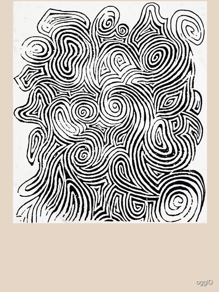 Psychedelic Optical Illusion Patterns - Jerry Garcia Face Zebra Stripes / Swirls by oggi0