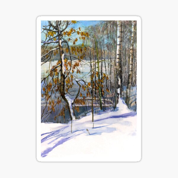 Snow fell Watercolorpainting Sticker