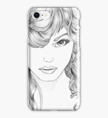 The Intriguing Woman... the original drawing. iPhone Case/Skin