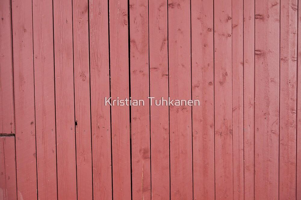 Old red blank wall by Kristian Tuhkanen