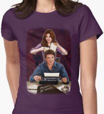 Murder He Wrote Womens Fitted T-Shirt