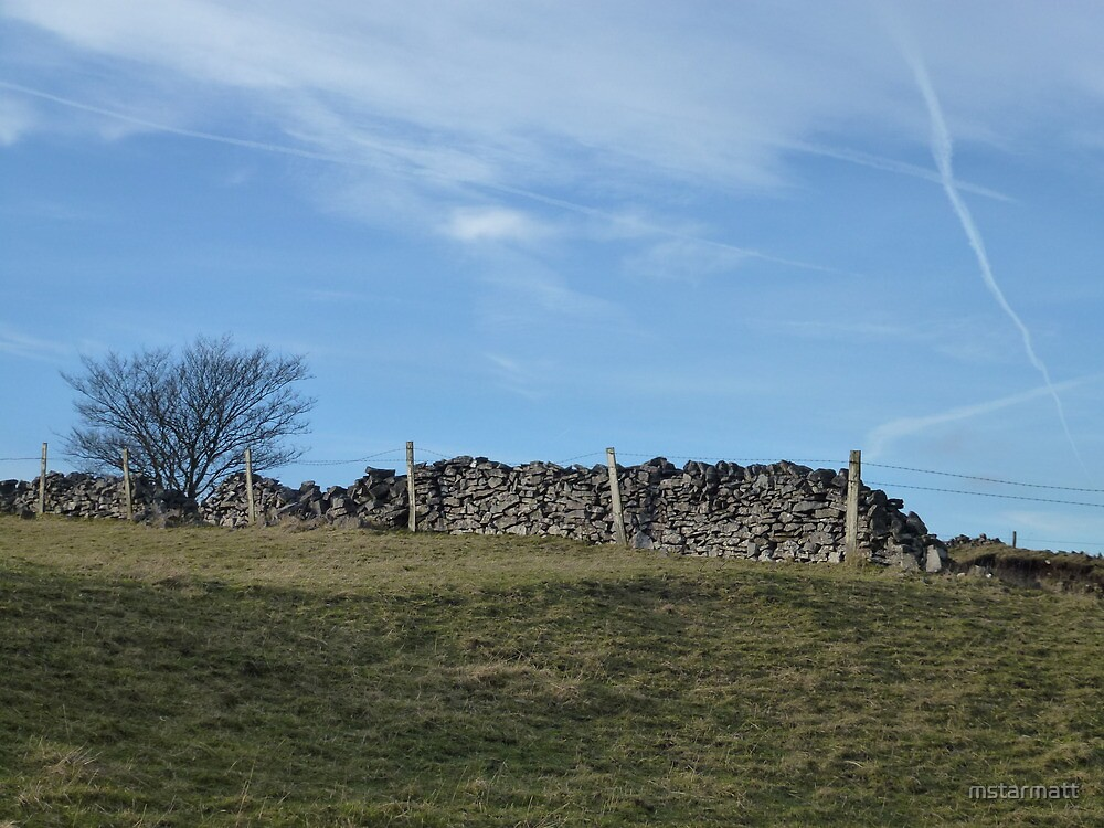 Dry Stone Wall - Middleton Moor #3 by mstarmatt