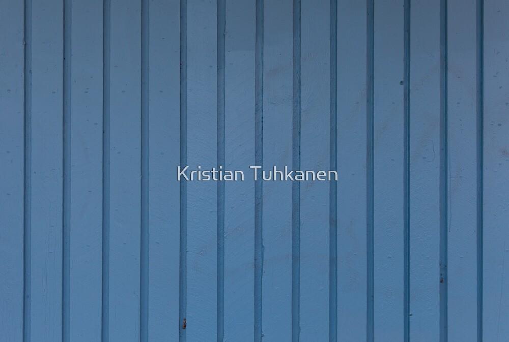 Blue plank wall by Kristian Tuhkanen