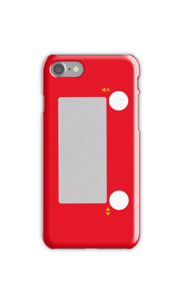 Etch a sketchu0026quot; iPhone Cases u0026 Skins by SherlockReader1 : Redbubble