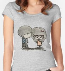 Cute Boy and Girl - LQ Women's Fitted Scoop T-Shirt