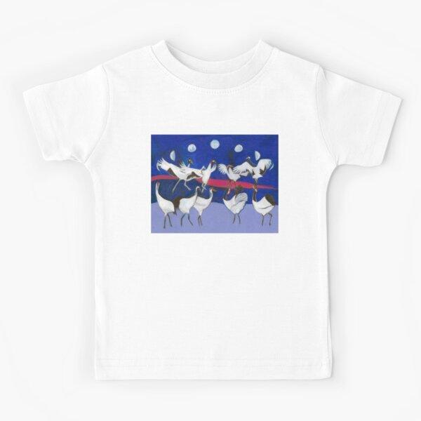 Nine Dancing Cranes Kids T-Shirt