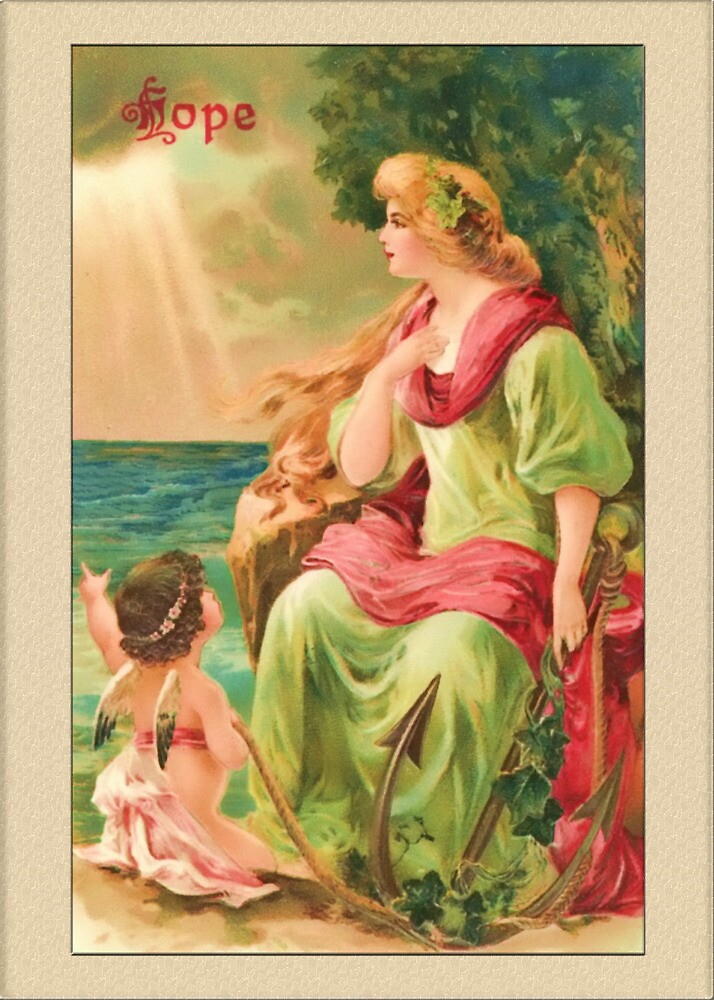 Vintage Angel Card-Hope Angel by Yesteryears