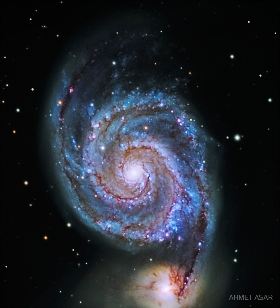 Space M51 Whirlpool Galaxy by MotionAge Media