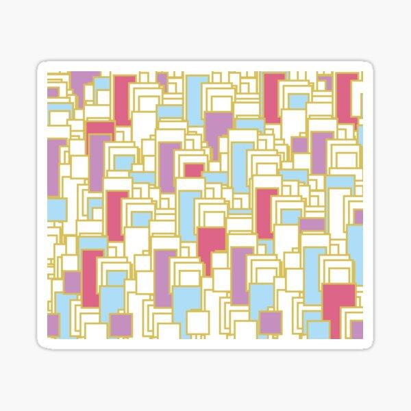 Pastel Gold Geometric Rectangular Background Sticker
