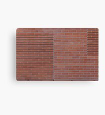 Red brick wall Canvas Print