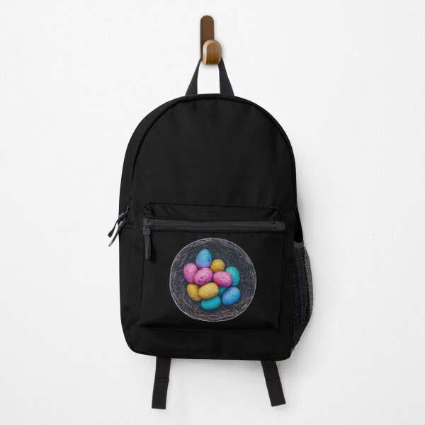 Easter colourful eggs sticker Backpack