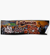 San Francisco Giants Street Mural Poster