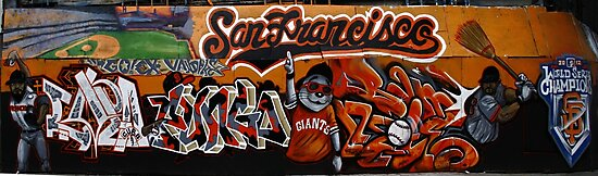 San Francisco Giants Street Mural by fototaker