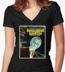 Daleks Invasion Earth Women's Fitted V-Neck T-Shirt