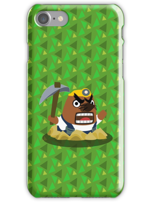 animal crossing for iphone quot mr resetti animal crossing quot iphone cases amp skins by 7791