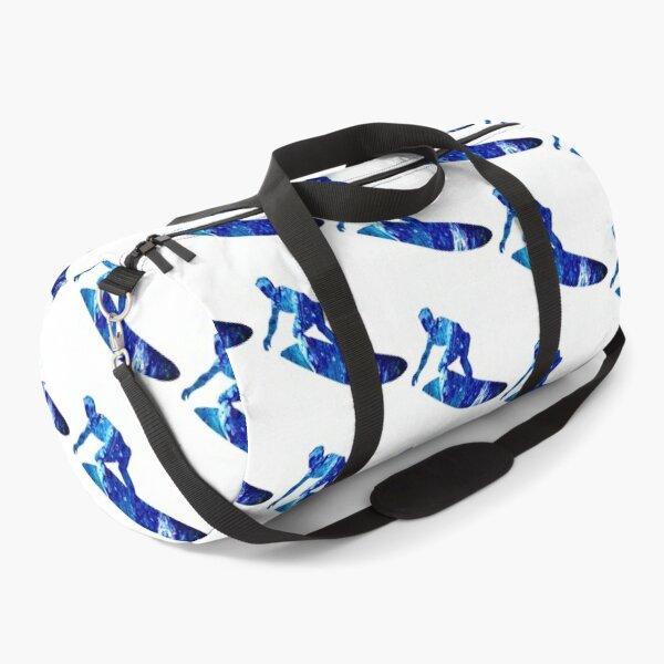 Blue Surfer Duffle Bag