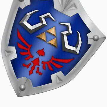 A Legend of Zelda (Right-shoulder Back) Shield Design  by FilipeFL3