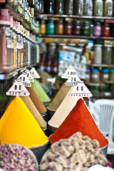 Colourful Morrocan Spices by MorganaPhoto