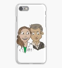 Molly Hooper and DI Lestrade iPhone Case/Skin