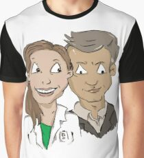 Molly Hooper and DI Lestrade Graphic T-Shirt