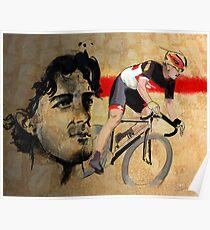Cycling Illustration Fabian Cancellara print Poster