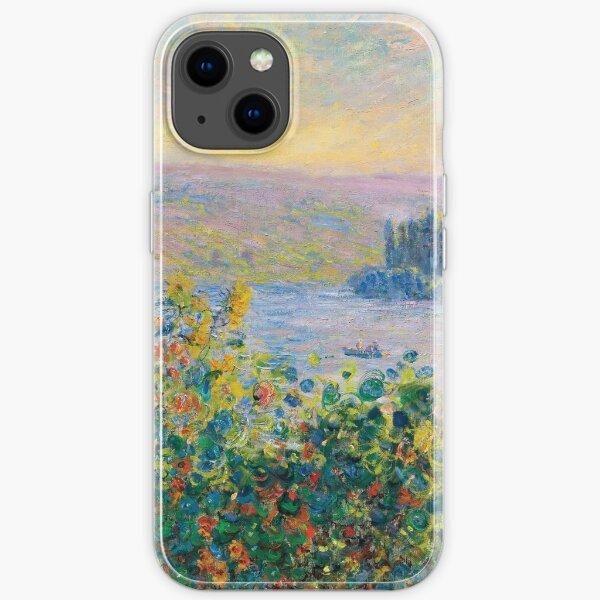 Claude Monet - Flower Beds at Vétheuil iPhone Soft Case