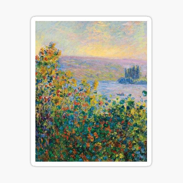 Claude Monet - Flower Beds at Vétheuil Sticker