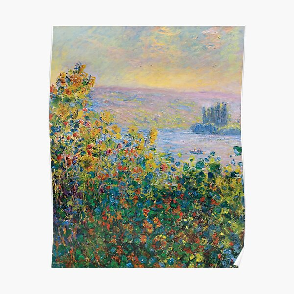 Claude Monet - Flower Beds at Vétheuil Poster