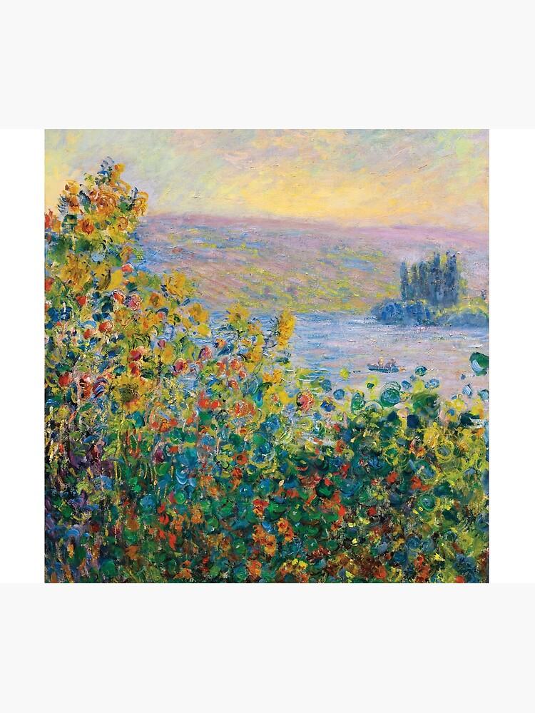 Claude Monet - Flower Beds at Vétheuil by AbidingCharm