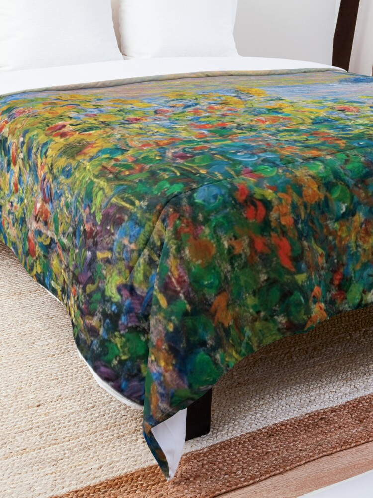 Alternate view of Claude Monet - Flower Beds at Vétheuil Comforter