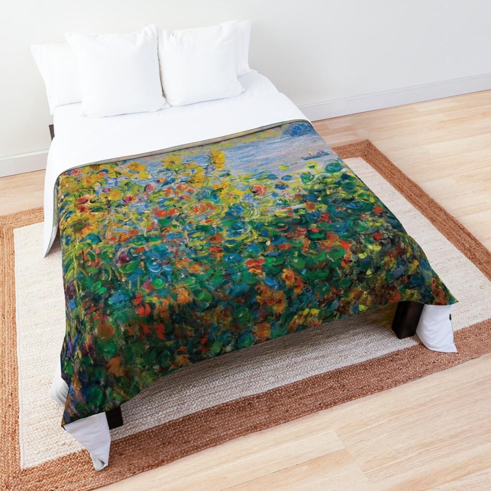 Claude Monet - Flower Beds at Vétheuil Comforter
