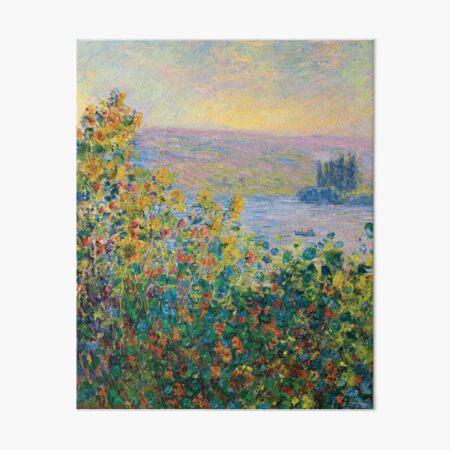 Claude Monet - Flower Beds at Vétheuil Art Board Print