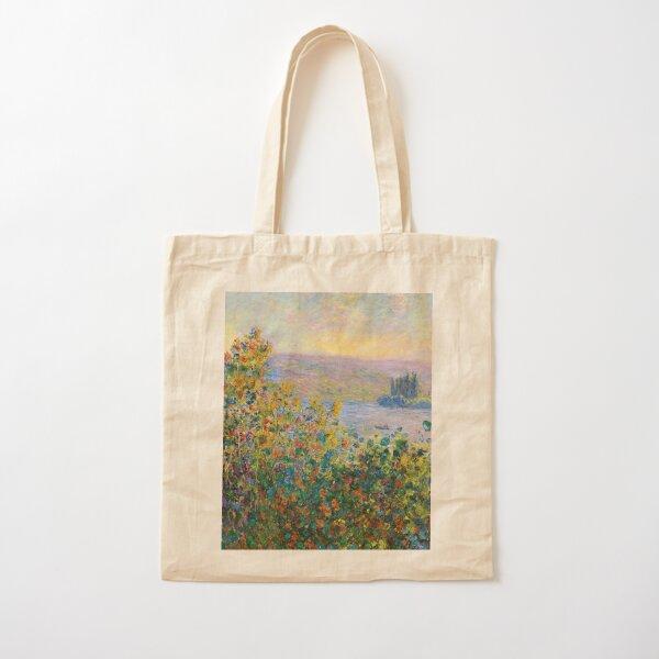 Claude Monet - Flower Beds at Vétheuil Cotton Tote Bag