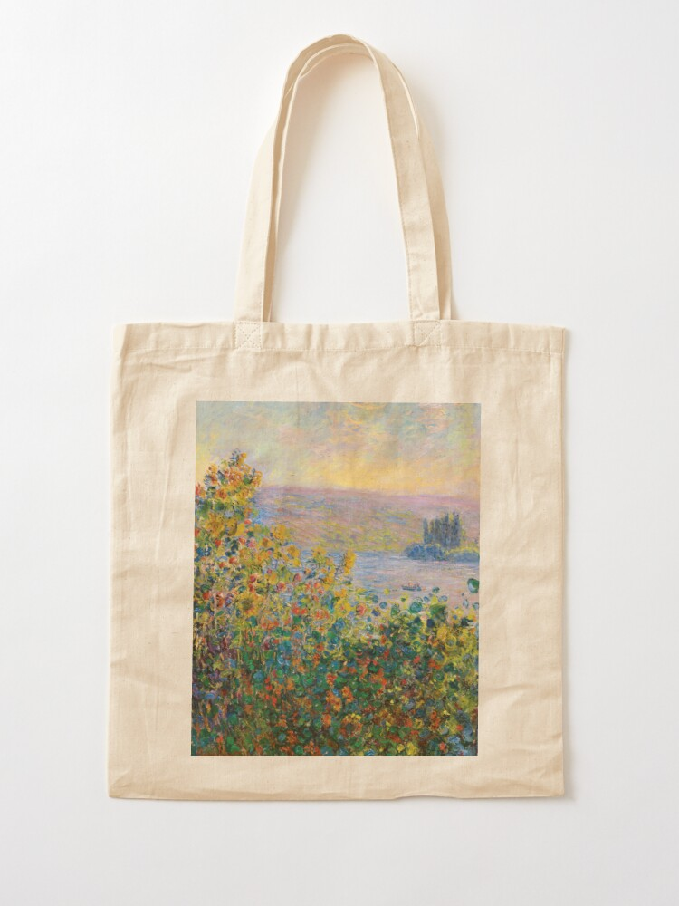 Alternate view of Claude Monet - Flower Beds at Vétheuil Tote Bag