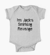 I'm Jack's Smirking Revenge Black Lettering One Piece - Short Sleeve