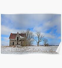 Old farmstead in Logan County, Ohio Poster