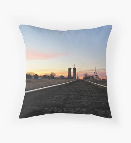 Prairie Rails Throw Pillow