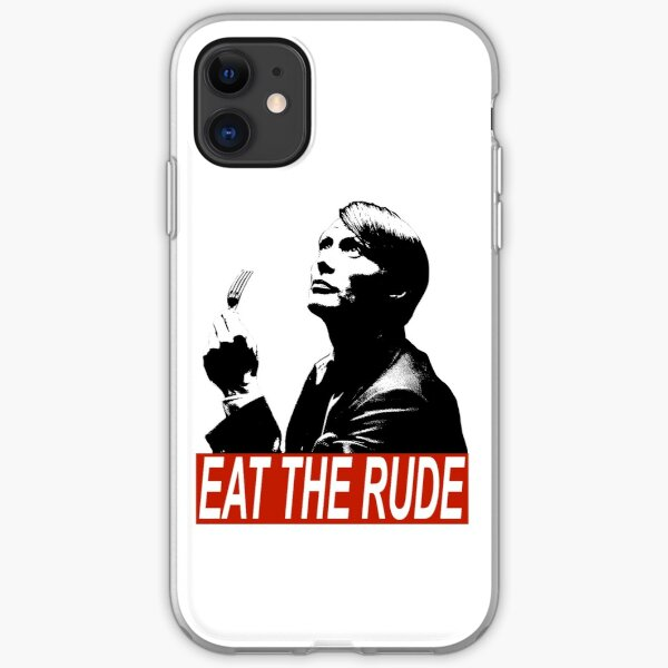 eat the rude iPhone Soft Case