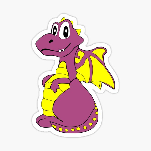 Purple Dragon. The Little friendly dragon that lives under your floor boards. Sticker