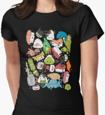 Sushi Bar: The point of Nori-turn Women's Fitted T-Shirt