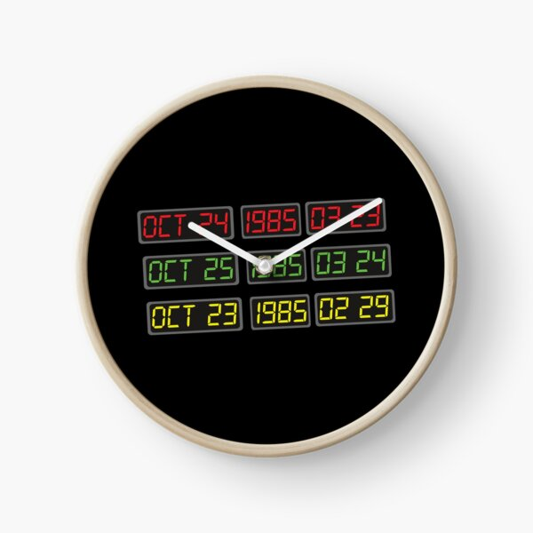 Back to the 80s by Time Travel Machine Clock