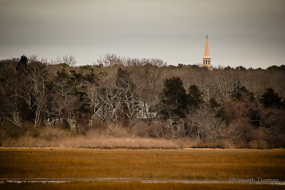 Church Spire Barnstable Cape Cod Massachusetts by Elizabeth Thomas