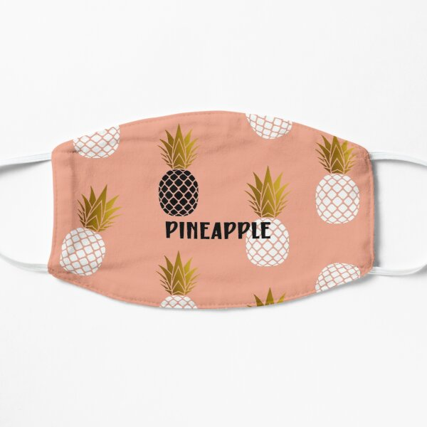 Pink,Gold,Black and White Pineapple Mask